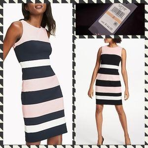 NWT Tommy Hilfiger Color Block Sheath Dress